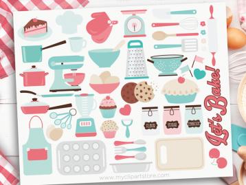Let's Bake Clipart