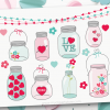 Valentine Masson Jars clipart