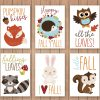 Fall Animals Vector Clipart