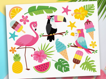 Tropical Summer Clipart