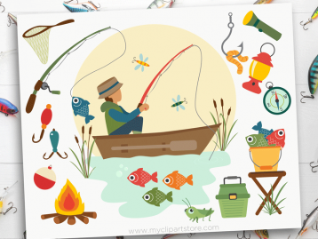 Dad's Fishing Boat Clipart