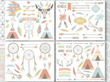 Tribal Clipart Bundle (Set 1)