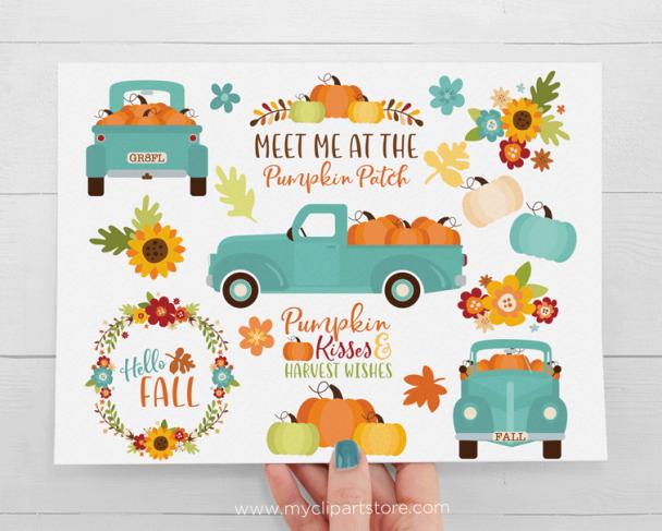 Teal Pumpkin Clipart