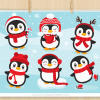Christmas Penguins Clipart