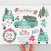 Christmas Truck Mint Clipart