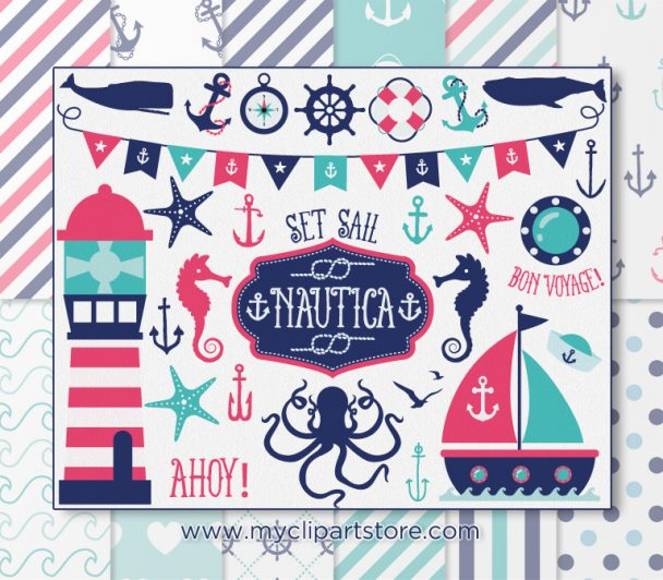 Nautical Girl Vector Clipart