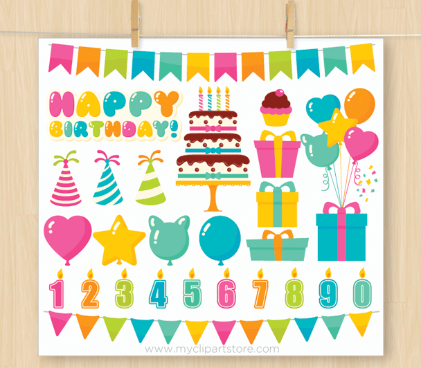 Birthday Party Vector Clipart