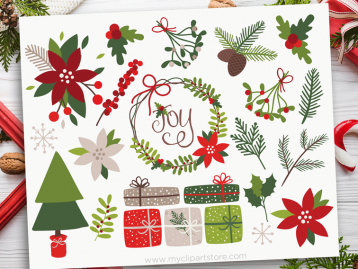 Christmas Holly Clipart