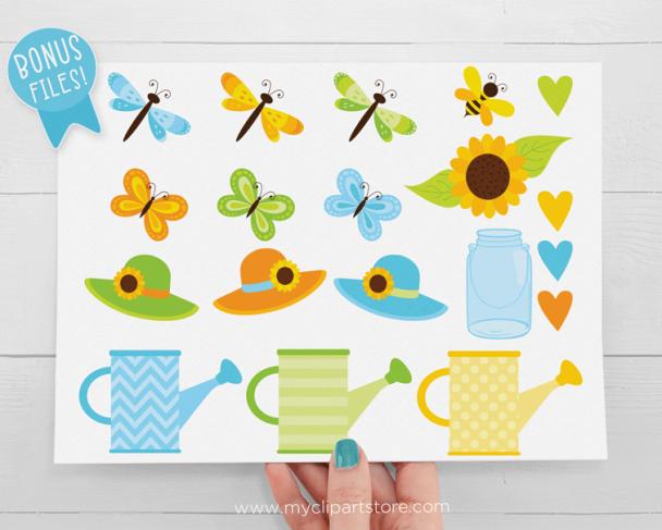 Sunflower Garden Clipart