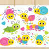 Crawling Bugs Vector Clipart