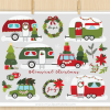 Christmas Campers Vector Clipart