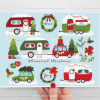 Christmas Campers Clipart