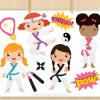 Karate Girls Clipart