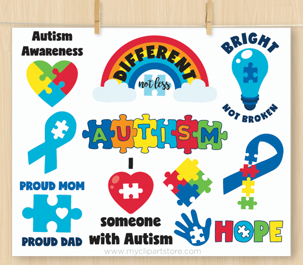 Autism Awareness Vector Clipart