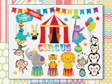 Animals Circus Clipart