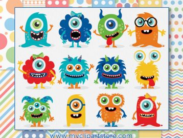 Monster Friends Vector Clipart