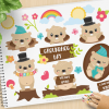 Groundhog Day Vector Clipart