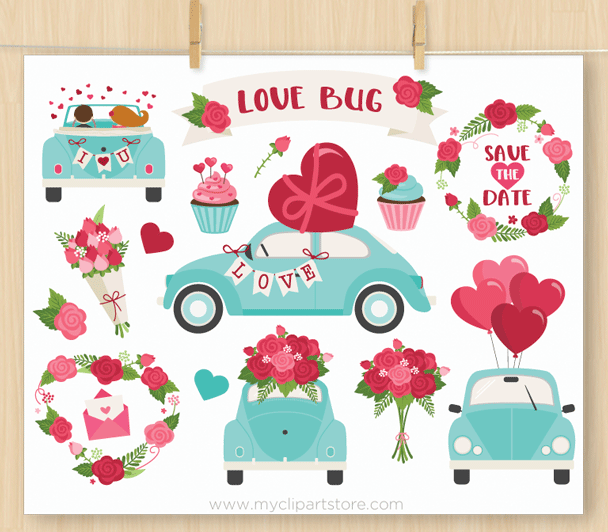 Love Bug Vector Clipart