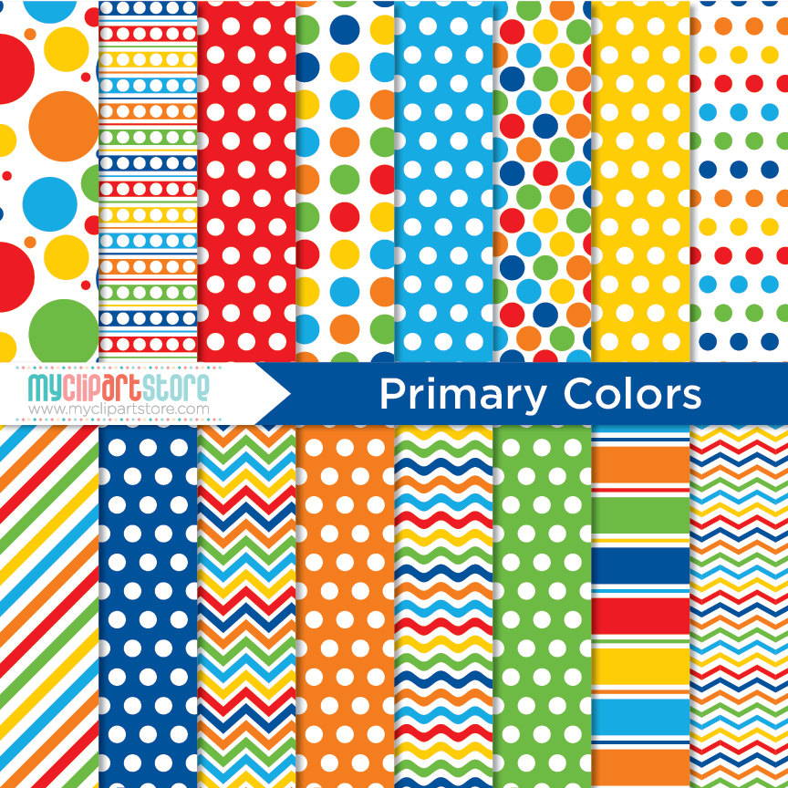Primary Colors Digital Patterns
