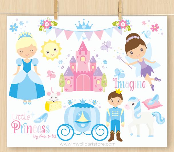 Princess Cinderella Vector Clipart