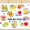 Punny Fruit Vector Clipart