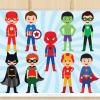 Superhero Boy Vector Clipart