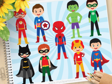 Superhero Boy Vector Clipart