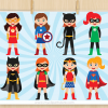 Superhero Girls Vector Clipart