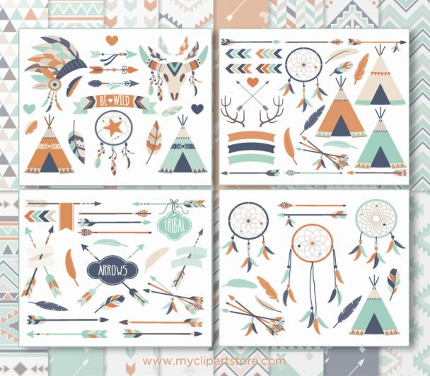 Bohemian Tribal Vector Clipart
