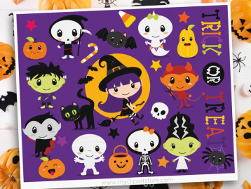 Trick or Treat Halloween Clipart