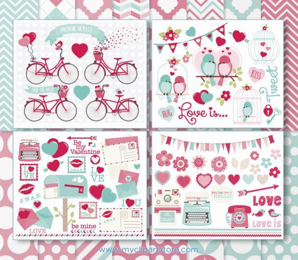 Valentines Day Clipart Bundle
