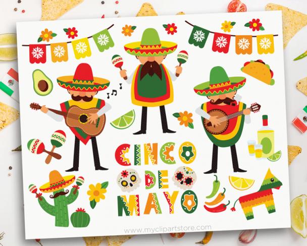 Cinco De Mayo Mariachi Clipart