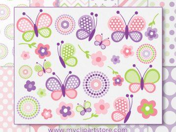 Pink Butterflies Combo
