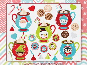 Hot Chocolate Vector Clipart