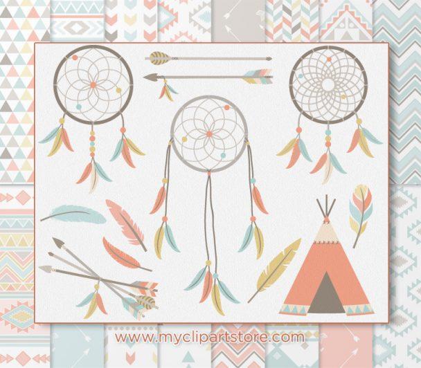 Tribal Dreamcatchers clipart