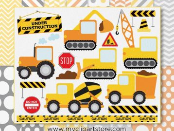 Construction Vehicles Clipart