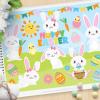 Hoppy Easter Vector Clipart