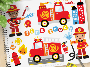 Fire Rescue Clipart