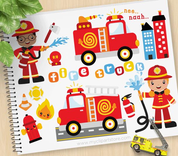 Fire Rescue Clipart