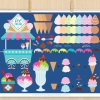 Ice-Cream Shoppe Vector Clipart