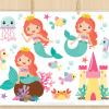 Mermaid Princess Vector Clipart