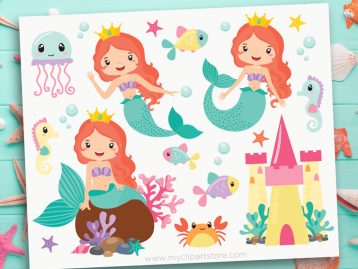 Mermaid Princess Clipart