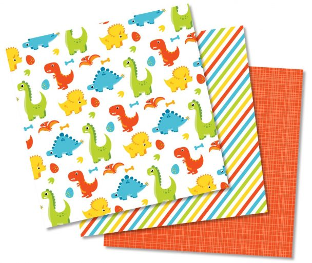 Dinosaur Fun Boy Digital Paper