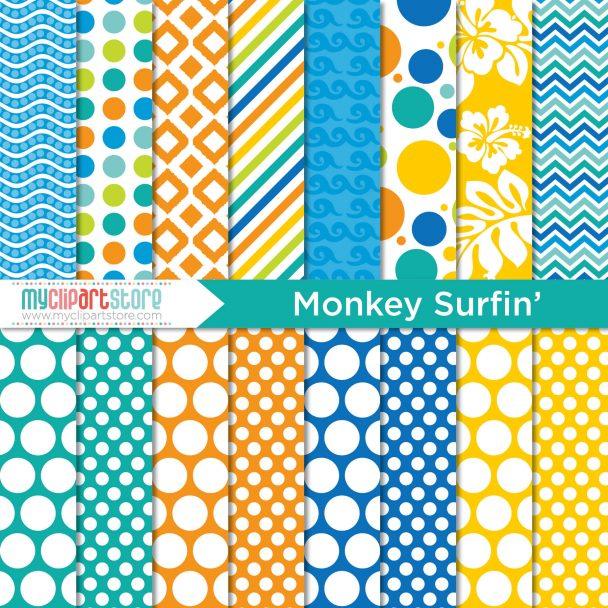 Paper Monkey Surfing