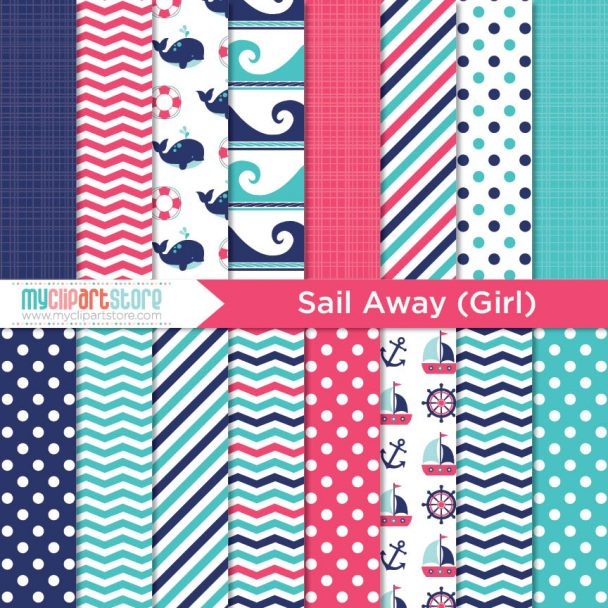 Paper Sail Away Girl Paper