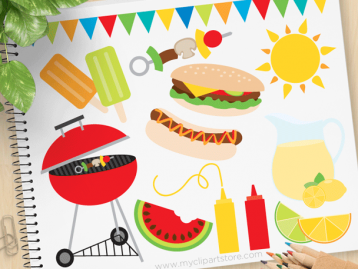 Summer BBQ Vector Clipart