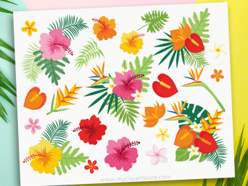 Tropical Plants Clipart