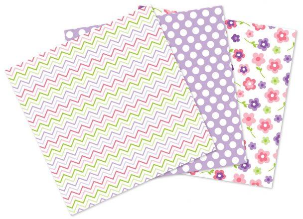 Pink Butterflies Paper Sample