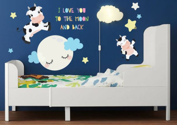 Bed Time Cow Vector Clipart