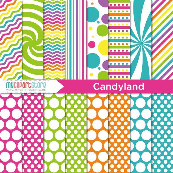 Candyland Digital Paper